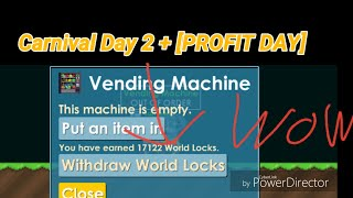 Carnival Day 2 Making [170 DLS] Profit Day - Growtopia