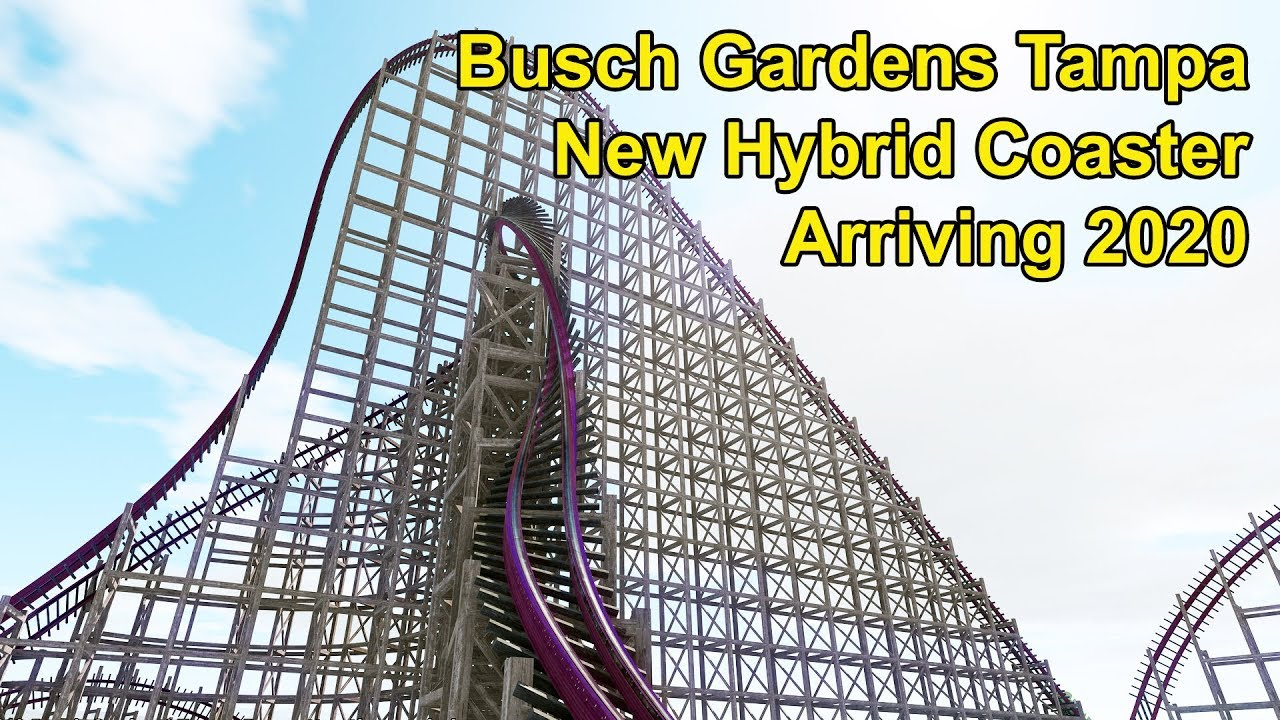 First Look Busch Gardens Tampa Bay Announces New Hybrid Roller Coaster Arriving In 2020