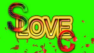 S Love C Letter Green Screen For WhatsApp Status | S & C Love,Effects chroma key Animated Video