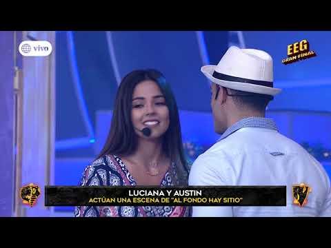 ¿Luciana Fuster y Austin Palao se besaron en reto de actuación?