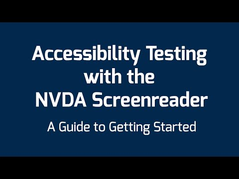 Accessibility Testing with the NVDA Screenreader