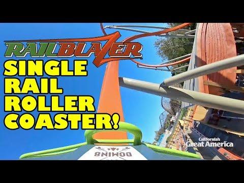 RailBlazer Roller Coaster! *REAL* Front Seat POV & Rider Cam View! California's Great America 2018