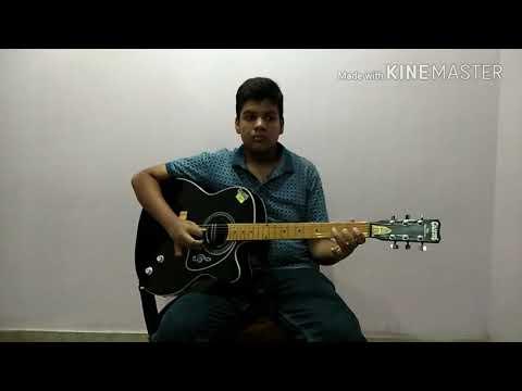 Hum hongey kamyab played on guitar behind the neck