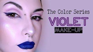 The Color Series: VIOLET MAKE-UP [TRUCCO VIOLA] (TUTORIAL)