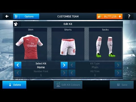 a0fafcff1 Import Arsenal 2018 19 Kits And Logo In Dream League Soccer 18 - YouTube