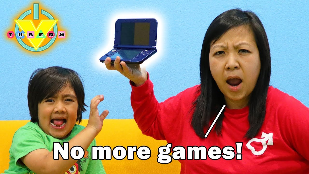 Download MOM STOLE MY VIDEO GAMES ! Let's Play !? Ryan's Mommy hides video games from Ryan & Daddy!