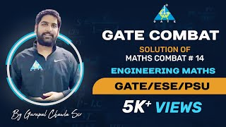 MATHS COMBAT SOLUTION #14 ... for GATE 2020