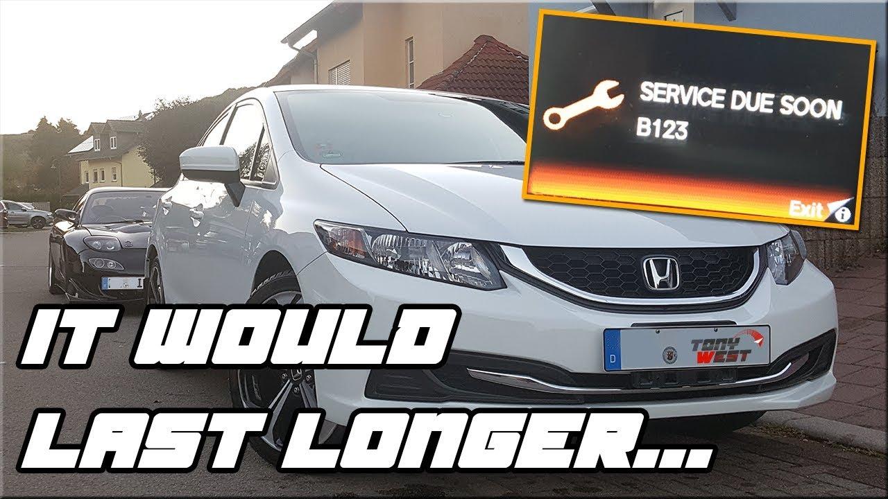 How to reset the oil life / service light B20 code   Honda Civic