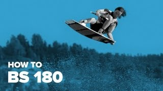 Как сделать bs 180 на вейке (How to bs 180 on wakeboard)