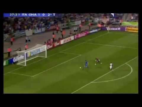 ITALIA-GHANA 2-0 - Gol di VINCENZO IAQUINTA, radiocronaca di Riccardo Cucchi (12/6/2006) Radio Rai