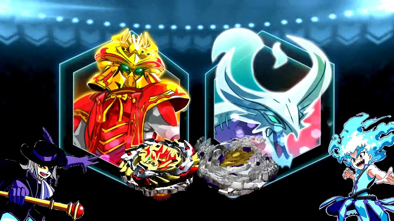 Amaterios A3 Vs Brutal Luinor L4 Beyblade Burst App Gameplay