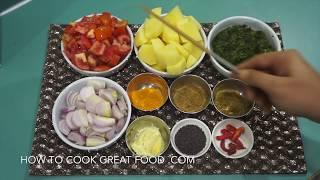 Spinach Potato Curry Recipe - Vegan