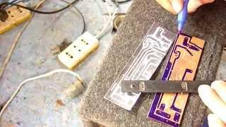 Cómo diseñar y quemar una placa de circuitos (muy fácil de hacer)