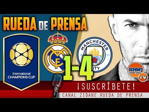 Rueda de Prensa Post Real Madrid 1-4 Manchester City | ICC 2017