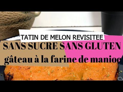 tatin-de-melon-revisitée-sans-sucre-et-sans-gluten,-gâteau-à-la-farine-de-manioc
