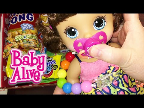 Mail! Munchpak and Pacifier Clip from Aloha Baby Alive for our Dolls!