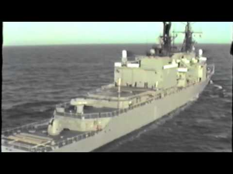 USS Callaghan - Helicopter Take Offs/Landings