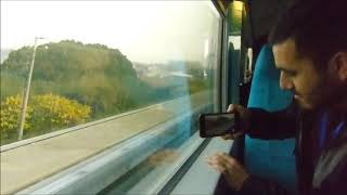 Chinese MagLev trains pass at 700 km/hour. thumbnail