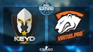 CS:GO - Keyd Stars vs. Virtus.Pro [Overpass] - ESL One 2015 Katowice - Quarterfinal - Map 2