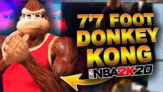 "7'7"" DONKEY KONG In NBA 2K20 BROKE 2K's MyPlayer Build System... | DominusIV"