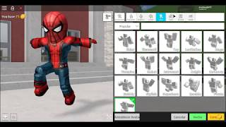 How to Make SpiderMan Homecoming at robloxian highschool