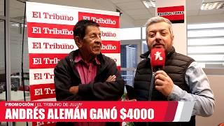 Andrés Alemán ganó $4000 con El Tribuno de Jujuy