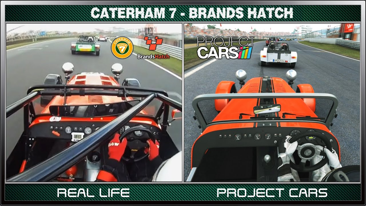 Project Cars Vs Real Life Caterham Race Brands Hatch Youtube
