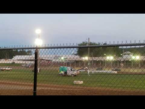Jackson Co Fair Brownstown Speedway 7-28-18 hornet heat 2 part 1