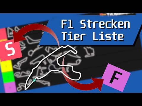 Eine Tier-Liste Mit F1 Strecken