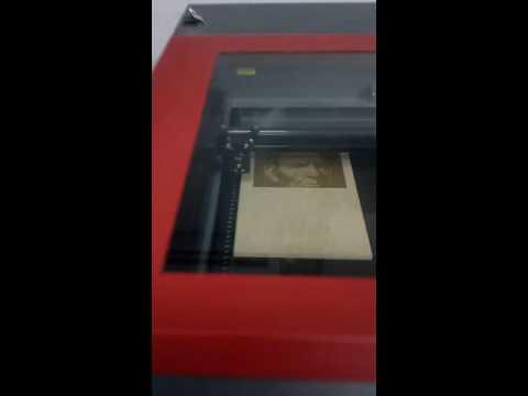 Universal laser sistems  Engraving wood Doha Qatar By.Nirmana Rajapaksha.At Digital Printing center