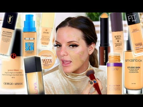 MIXING ALL MY FOUNDATIONS TOGETHER! |  Casey Holmes