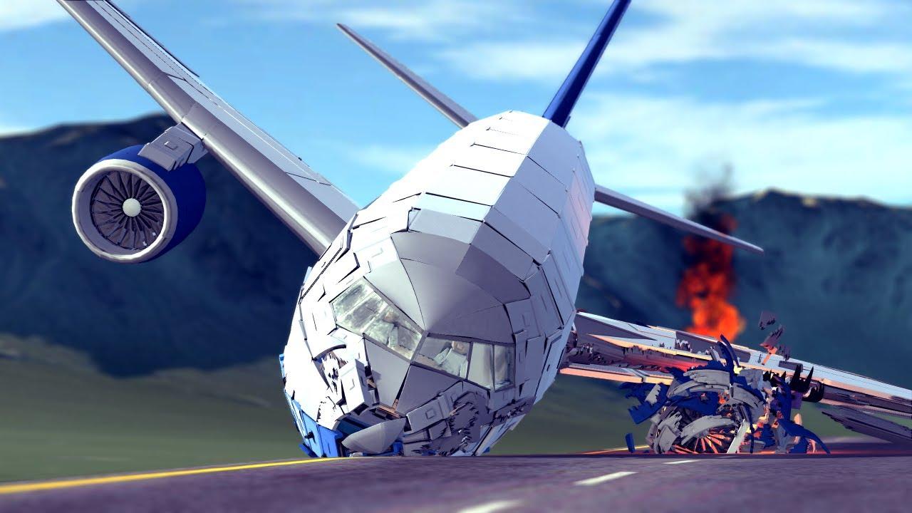 Airplane Crashes & Shootdowns #44 | Besiege