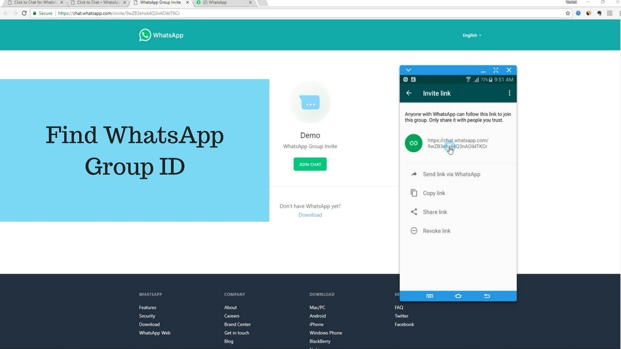 Find WhatsApp Group ID – Click to Chat