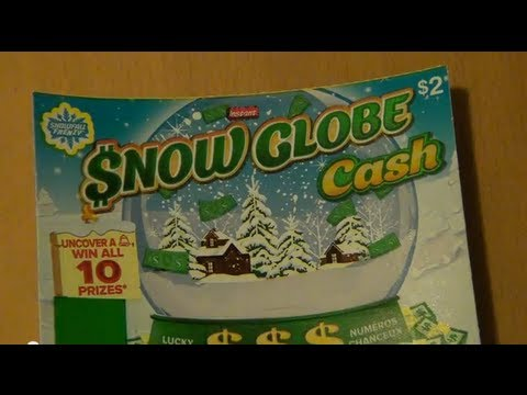 Snow Globe Cash Instant Lottery Scratch Ticket Top Prize of $35,000 Winning HD 1 of 2