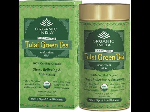 Review - One of the best GREEN TEA in market ORGNIC INDIA Tulsi Green Tea