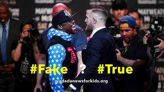WADADA News for Kids: Conor McGregor wears F*ck You suit? (fake or true?)