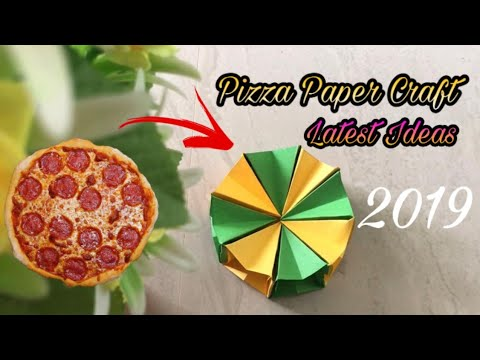 How to Make Pizza Type Paper Craft 2019 | Easy Pizza Craft | 2019 Craft Ideas | Easy Paper Craft