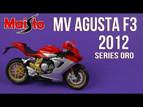 Распаковка Maisto (1:12) MV Agusta F3 Series Oro 2012