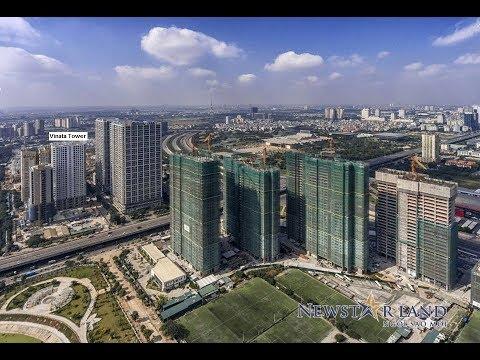 Vinata Tower tuyệt đẹp từ góc quay Flycam – Hà Nội ngày 22/01/2018