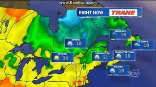 CJOH: CTV News Ottawa At 6pm Weather Forecast--2016