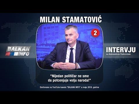 INTERVJU: Milan Stamatović - Nijedan političar ne sme da potcenjuje volju naroda! (20.05.2018)