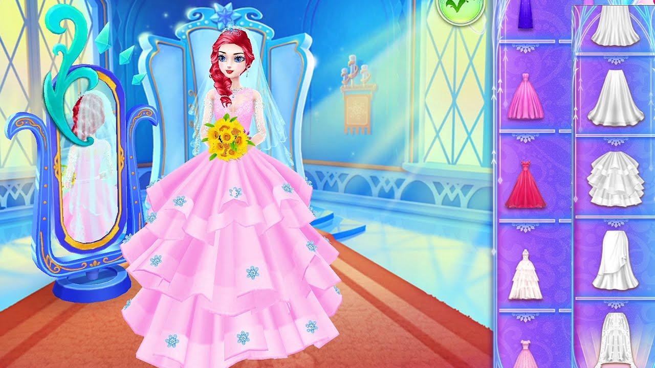 Princess Royal Wedding Design - Beauty Makeup, Dress Up, Color Hairstyles & Cakes Decorating Games