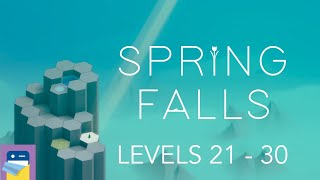 Spring Falls: Levels 21 - 30 Walkthrough Guide & iOS / Steam Gameplay (by Sparse Game Development)
