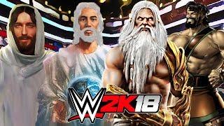 GOD and JESUS vs ZEUS and HERCULES | WWE 2K18 Gameplay