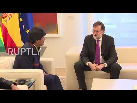 Spain: Bolivian pres. received in Madrid ahead of Hague maritime hearing