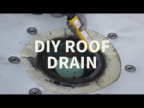 How To Install A Roof Drain