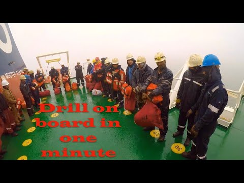 Drill on merchant vessel in one minute.