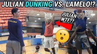 LaMelo Ball vs Julian Newman ROUND 2!?!? All Star Game Practice Gets ACTIVE! Julian Dunking!?