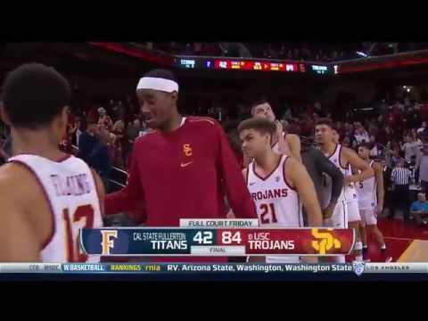 Men's Basketball: USC 84, Cal State Fullerton 42 - Highlights 11/10/17