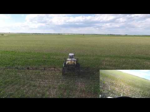 DJI Drone Footage of SPRAYING CORN